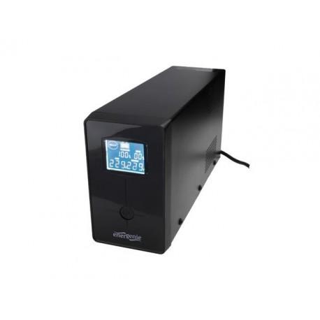 Zasilacz awaryjny UPS ENERGENIE L-INT 850VA 2XIEC 1XSCHUKO 230V USB RJ11 LCD
