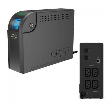 Zasilacz awaryjny UPS Ever OFF-L LCD 500VA 4xIEC USB LCD Bl