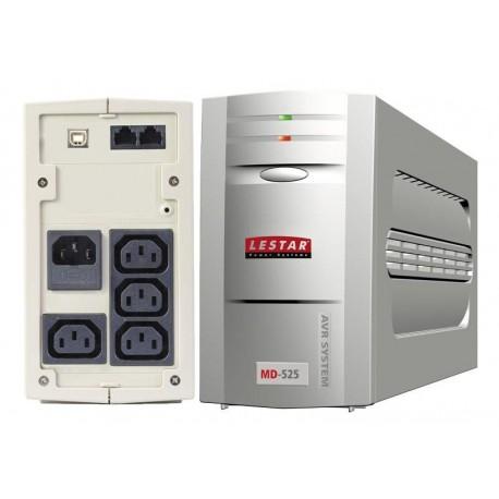 Zasilacz awaryjny UPS Lestar MD-525 L-INT 300W AVR 3+1xIEC USB RJ LED GR