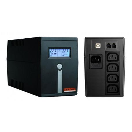 Zasilacz awaryjny UPS Lestar MCL-855u L-INT AVR LCD 4xSCH 800VA/480W USB BLACK