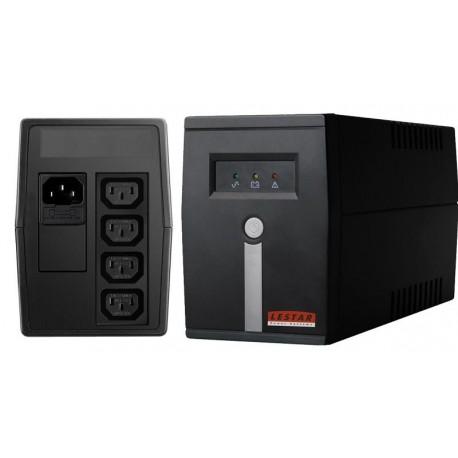 Zasilacz awaryjny UPS Lestar MC-525 L-INT AVR 4xIEC 400VA/240W BLACK