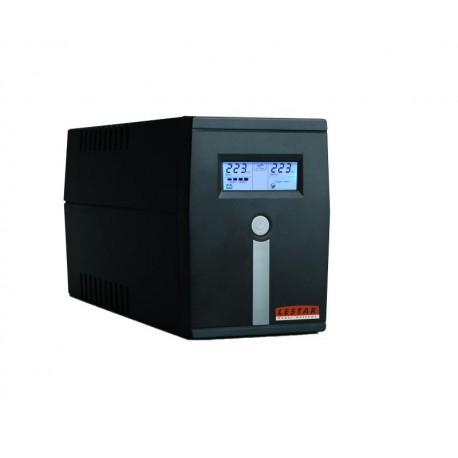Zasilacz awaryjny UPS Lestar MCL-855ssu L-INT AVR LCD 2xSCH 800VA/480W USB BLACK