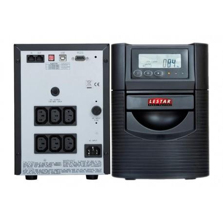 Zasilacz awaryjny UPS Lestar TSP-2200 L-INT AVR LCD Sinus 6xIEC USB RS czarny