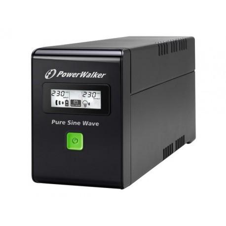 Zasilacz awaryjny UPS POWER WALKER LINE-IN 600VA 3xIEC RJ11/45 USB LCD