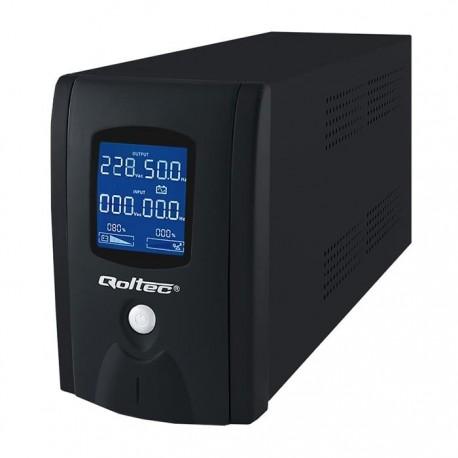 Zasilacz awaryjny UPS Qoltec 1200VA | 720W | LCD | USB