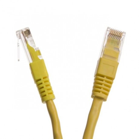 Patchcord UTP cat.6 0.5m START.LAN żółty
