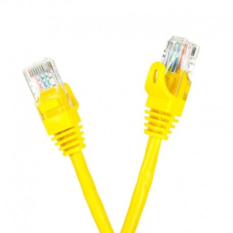Patchcord UTP cat.5e 0.25m START.LAN żółty