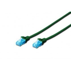 Patch cord DIGITUS UTP kat. 5e 0,5m PVC zielony