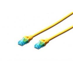 Patch cord DIGITUS UTP kat. 5e 0,5m PVC żółty