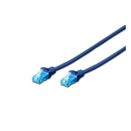 Patch cord DIGITUS UTP kat. 5e 1m PVC niebieski