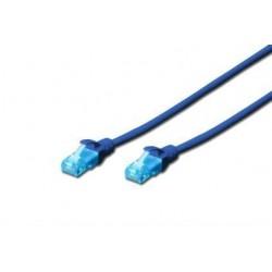 Patch cord DIGITUS UTP kat. 5e 3m PVC niebieski