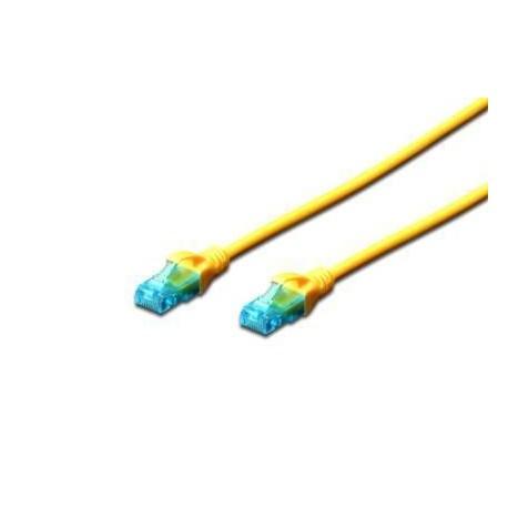 Patch cord DIGITUS UTP kat. 5e 3m PVC żółty