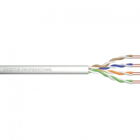 Kabel UTP DIGITUS kat. 5e 305m PVC drut miedź AWG24