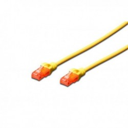 Patch cord DIGITUS UTP kat. 6 0,5m PVC żółty