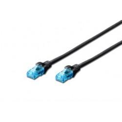Patch cord DIGITUS UTP kat. 5e 0,25m PVC czarny