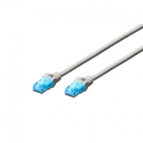Patch cord DIGITUS UTP kat. 5e 1,5m PVC szary