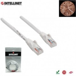 Patch Cord 100% miedź Intellinet Cat.6 UTP, 1m, biały ICOC U6-6U-010-WH