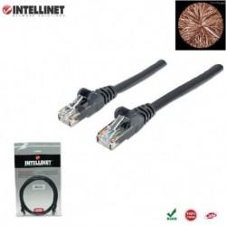 Patch Cord 100% miedź Intellinet Cat.6 UTP, 2m, czarny ICOC U6-6U-020-BK