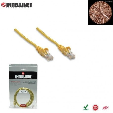 Patch Cord 100% miedź Intellinet Cat.6 UTP, 1,5m, żółty ICOC U6-6U-015-YE