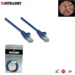 Patch Cord 100% miedź Intellinet Cat.6 UTP, 5m, niebieski ICOC U6-6U-050-BL