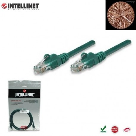 Patch Cord 100% miedź Intellinet Cat.6 UTP, 5m, zielony ICOC U6-6U-050-GREEN