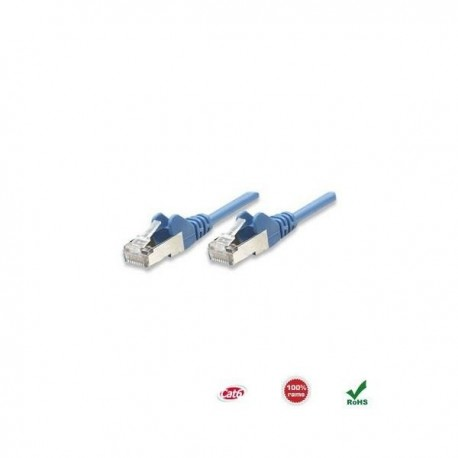 Patch Cord Intellinet Cat.6 UTP, miedź, 0,5m, niebieski ICOC U6-6U-005-BL