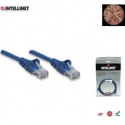 Patch Cord 100% miedź Intellinet Cat.5e UTP, 3m, niebieski ICOC U5EB-030-BL