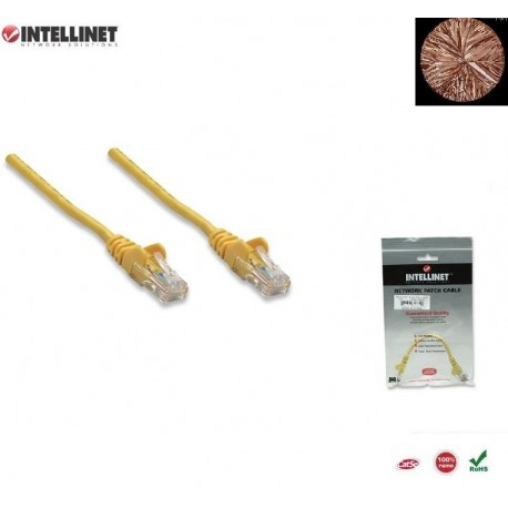 Patch Cord 100% miedź Intellinet Cat.5e UTP, 3m, żółty ICOC U5EB-030-YE
