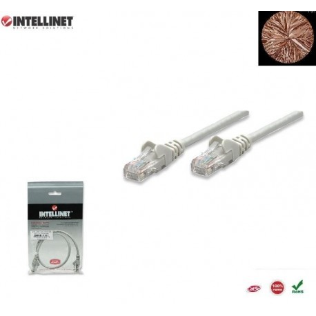 Patch Cord 100% miedź Intellinet Cat.5e UTP, 20m, szary ICOC U5EB-200
