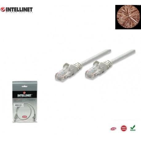 Patch Cord 100% miedź Intellinet Cat.5e UTP, 5m, szary ICOC U5EB-050