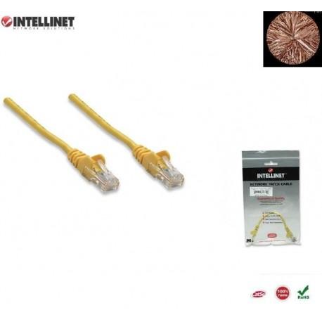 Patch Cord 100% miedź Intellinet Cat.5e UTP, 0,5m, żółty ICOC U5EB-005-YE