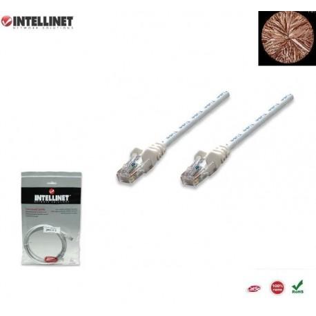 Patch Cord 100% miedź, Intellinet Cat.5e UTP, 2m, biały ICOC U5EB-020-WH