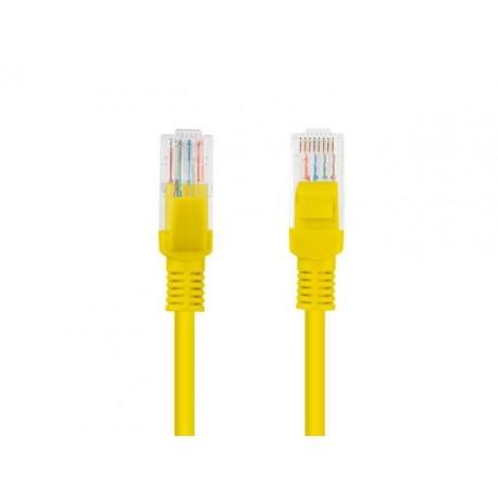 Patch cord Lanberg UTP kat.5e 0,5m żółty