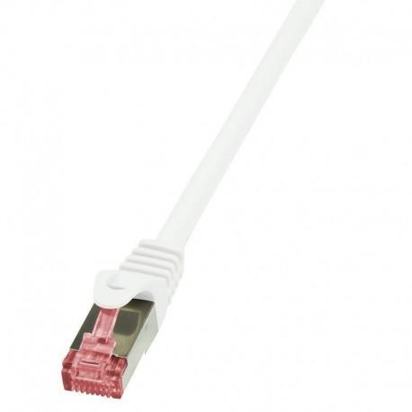 Patchcord LogiLink CQ2021S CAT.6 S/FTP 0,50m, biały