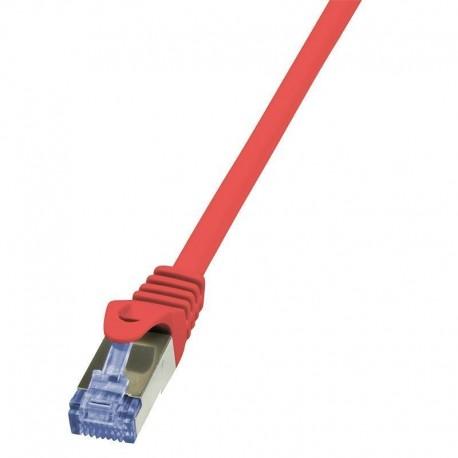 Patchcord LogiLink CQ3084S Cat.6A S/FTP 7,5m czerwony