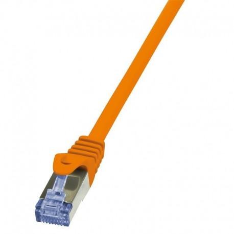 Patchcord LogiLink CQ3068S Cat.6A S/FTP 3m pomarańczowy