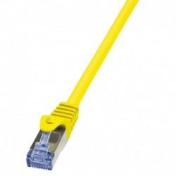Patchcord LogiLink CQ3027S Cat.6A S/FTP 0,50m żółty