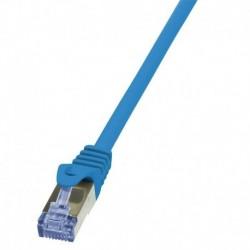 Patchcord LogiLink CQ3016S Cat.6A S/FTP 0,25m niebieski