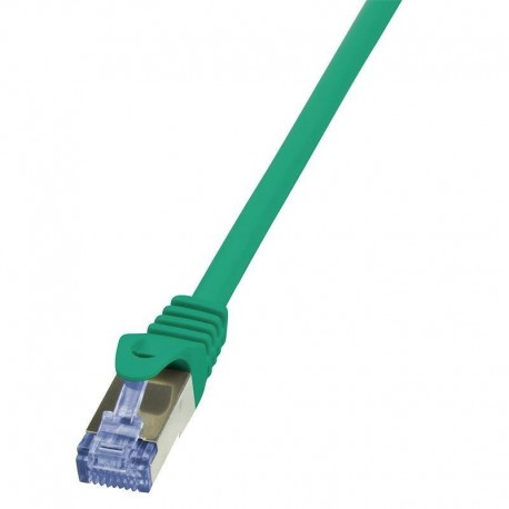 Patchcord LogiLink CQ3015S Cat.6A S/FTP 0,25m zielony