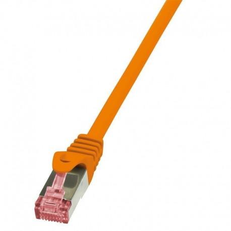 Patchcord LogiLink CQ2018S CAT.6 S/FTP 0,25m, pomarańczowy
