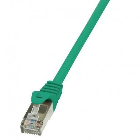 Patchcord LogiLink CP1015S CAT5e F/UTP 0,25m, zielony