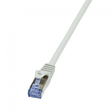 Patchcord LogiLink CQ4102S Cat.6A/7 600 MHz S/FTP PIMF 15,0m szary