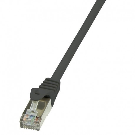 Patchcord LogiLink CP1013D CAT5e SF/UTP 0,25m, czarny