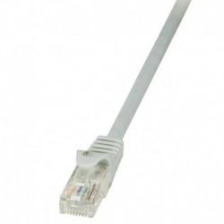 Patchcord LogiLink CP1012U CAT5e U/UTP 0,25m, szary