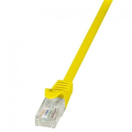 Patchcord LogiLink CP1027U CAT5e U/UTP 0,50m, żółty