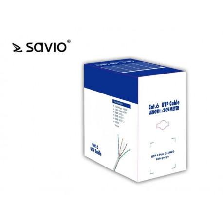 Kabel sieciowy UTP SAVIO Cat. 6 305m CLA-06