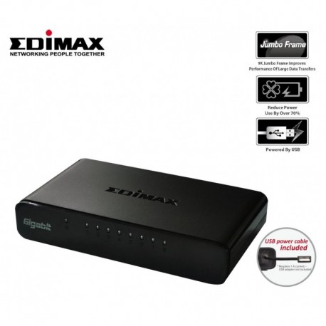 Switch Edimax ES-5800G V3 8x10/100/1000 Mbps USB