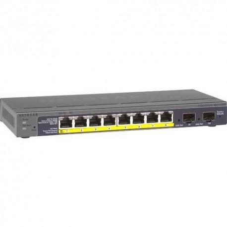 Switch zarządzalny Netgear GS110TP 8 x 10/100/1000 + 2xSFP 8xPoE
