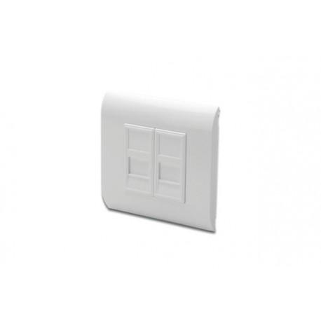 Ramka z adapterami DIGITUS 2x keystone, biała
