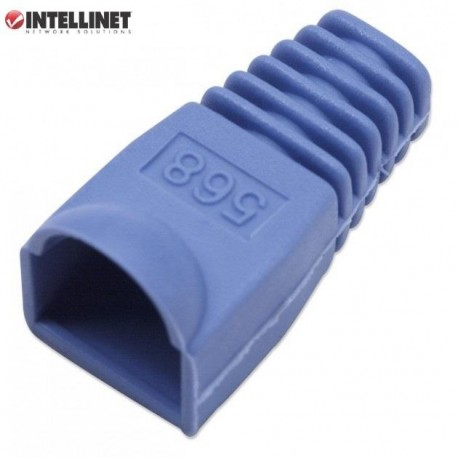 Osłonka Intellinet na RJ45, 10szt., niebieska IWP-CBOOT-BL